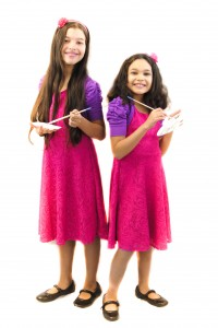 Elisha and Elyssa - WhollyART - teaching positive values through art