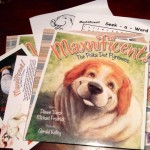 Maxnificent book, coloring page, and word search.