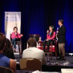 Elisha and Elyssa WhollyART speak at Author 101 Elyssa at Whollyart