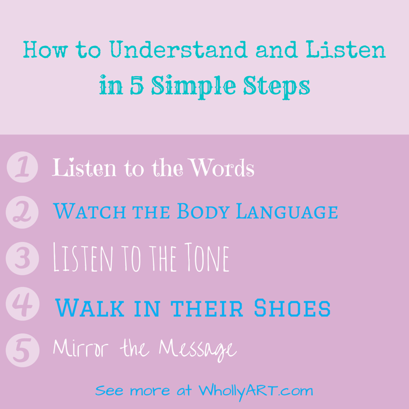 How to Understand and Listen in 5 Simple Steps - WhollyART