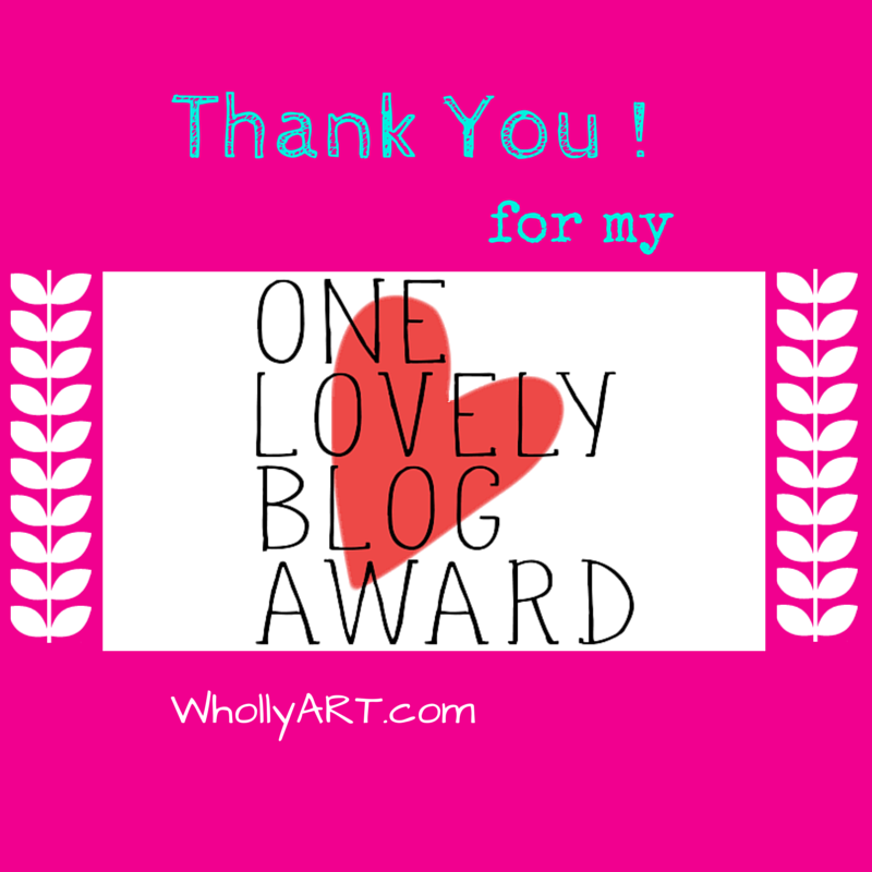 Thank You for my One Lovely Blog Award!
