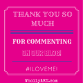Thank you for #commenting on our blog! Whollyart