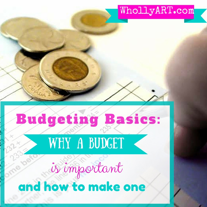 Budgeting Basics: Why a budget is important and how to make one - Whollyart
