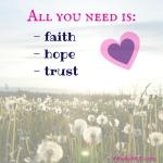 Faith Hope and Trust WhollyART Dedicated to Paris November 13 2015
