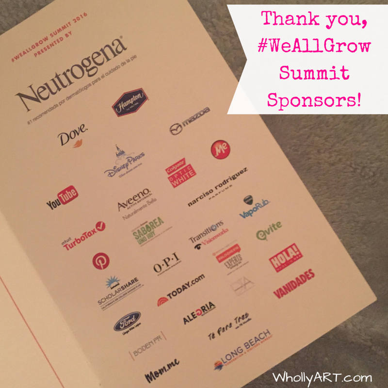 Thank you, #WeAllGrow Summit sponsors connect, create, collaborate