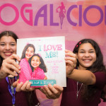The WhollyART sisters at Blogalicious with their book, I Love ME!