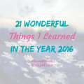 21 wonderful things i learned in the year 2016