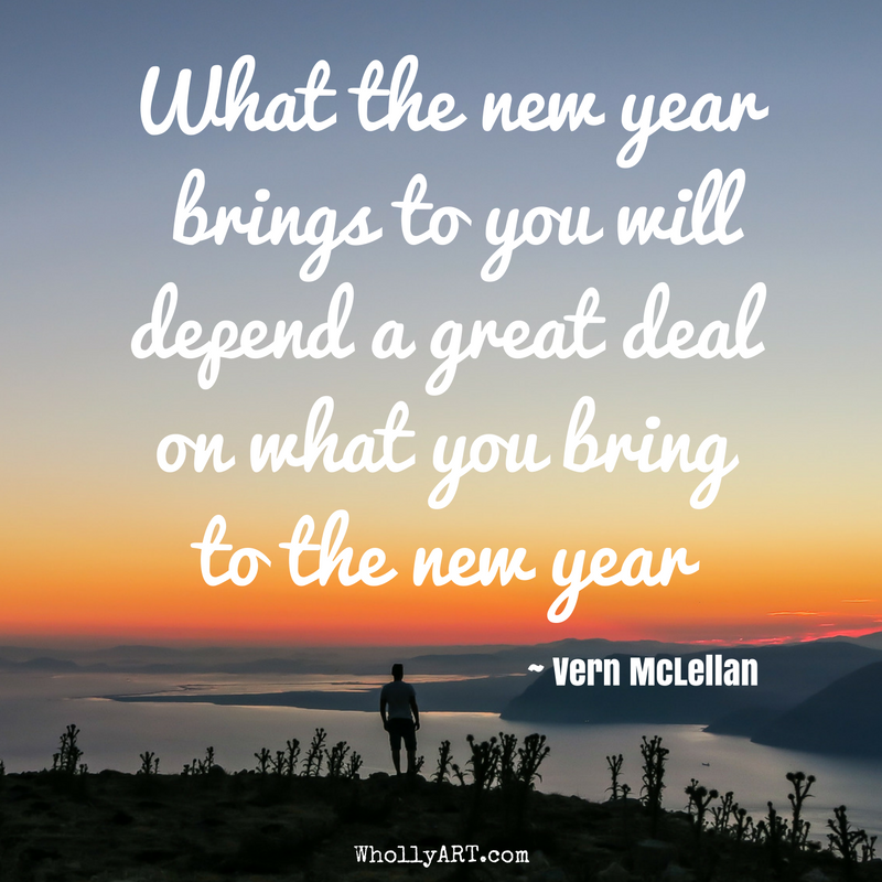What the new year  brings to you will depend a great deal on what you bring  to the new year