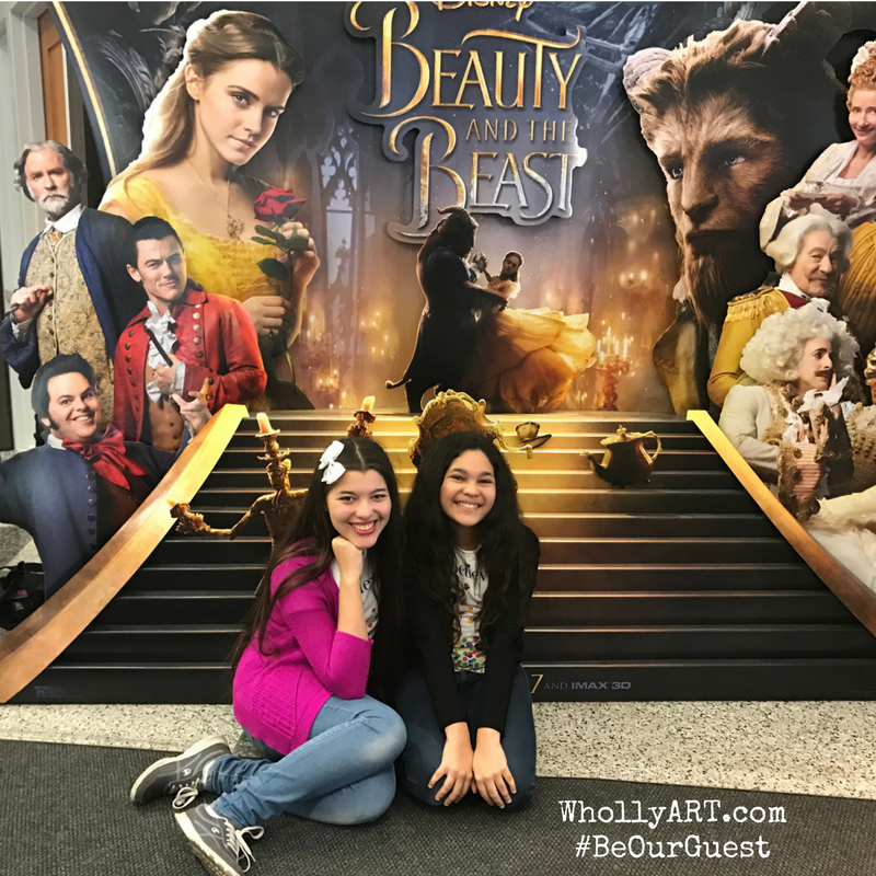 EF girls at the Beauty and The Beast Screening