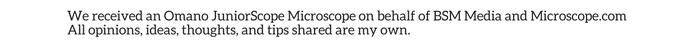 Omano JuniorScope Microscope Disclosure
