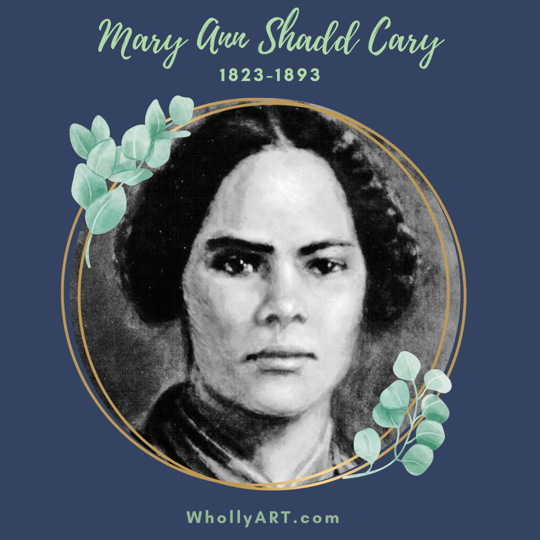 Black women in history, suffragists, powerful black women, Mary Ann Shadd Cary, black women who won the right to vote, civil rights, human rights, black lives matter